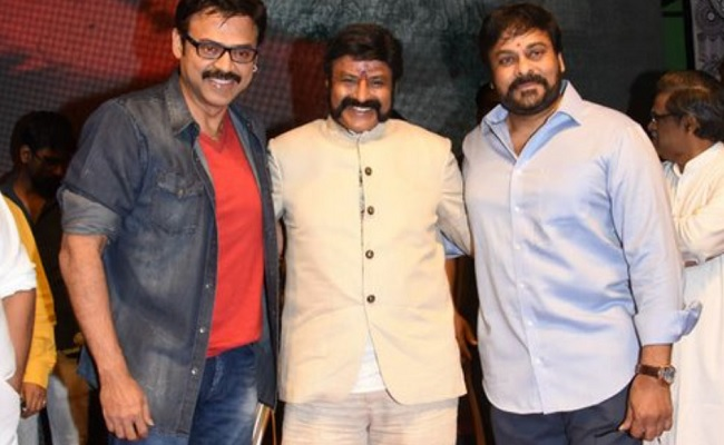 Buzz: Chiranjeevi vs Venkatesh + Balakrishna!