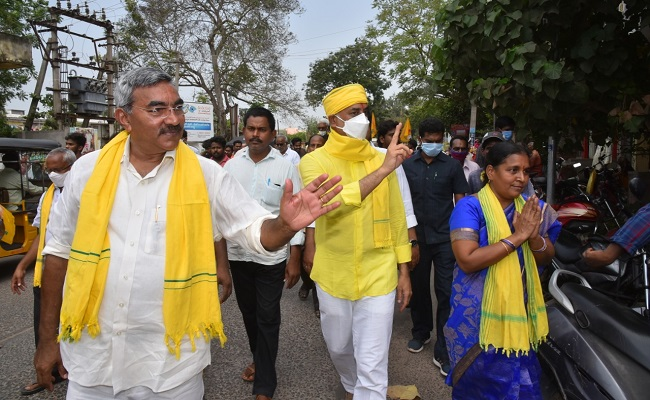 Finally Galla Jayadev Joins TDP Campaign