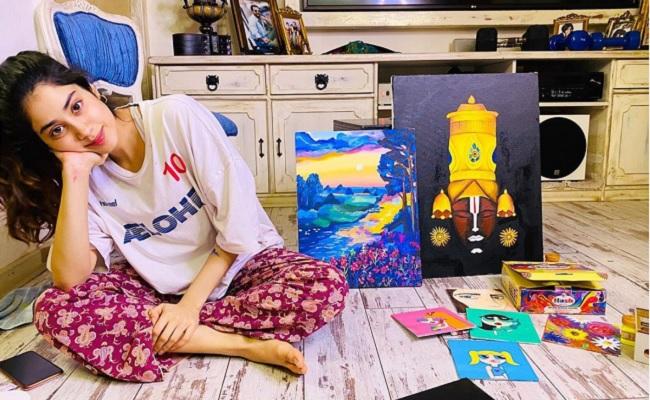 Janhvi's Paintings To Beat Lockdown Boredom