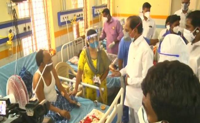 For the first time as CM, KCR visits Gandhi Hospital