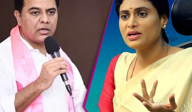Sharmila Greets KTR With A Suicide Video!