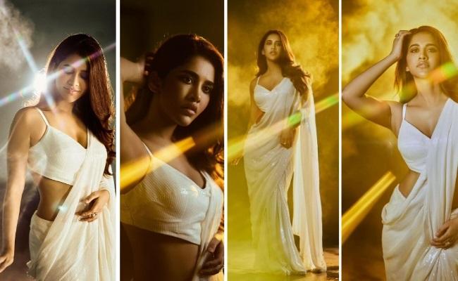 Pics: Nabha Natesh raises the heat in White Saree