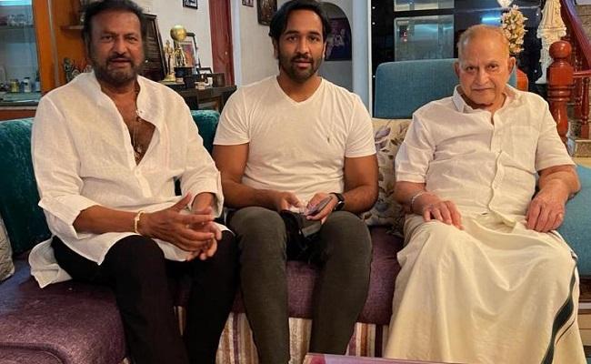 Manchu Vishnu Gets the Support of Superstar