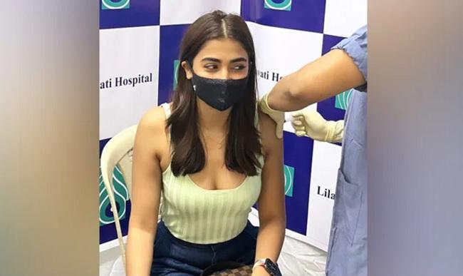 Pooja Hegde Gets Her First Vaccine Shot