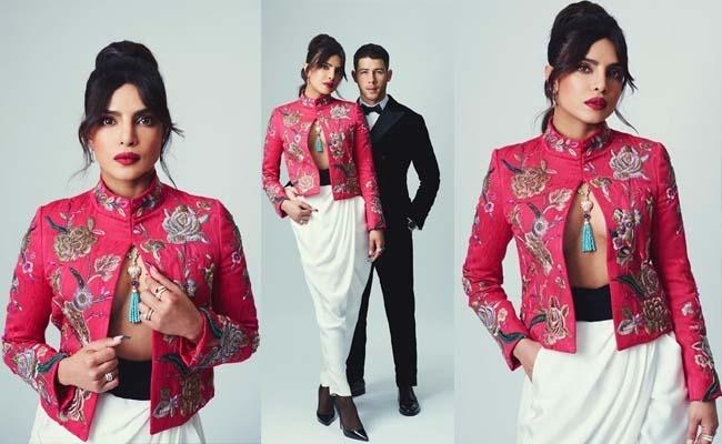 Pics: Priyanka Chopra's Bold Shirtless Blazer