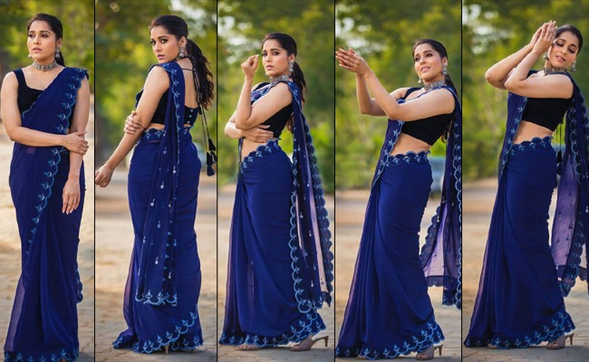 Pics: Rashmi's Out Of The Blue Look