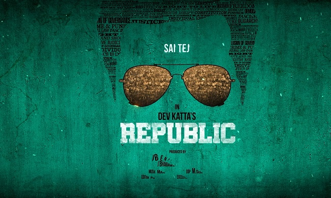 Motion Poster: Sai Tej Gives The Definition For Republic