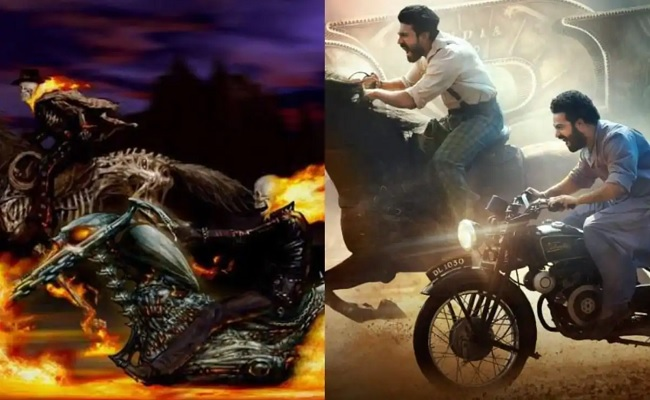 RRR Poster Copied from Ghost Rider?