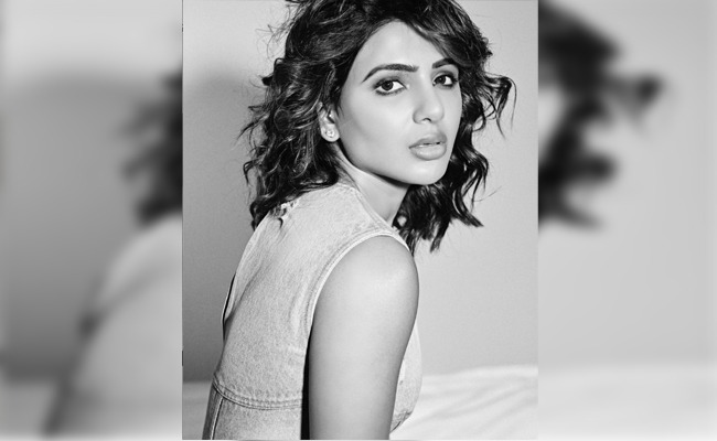Samantha Shines In Monochrome Photo-Op