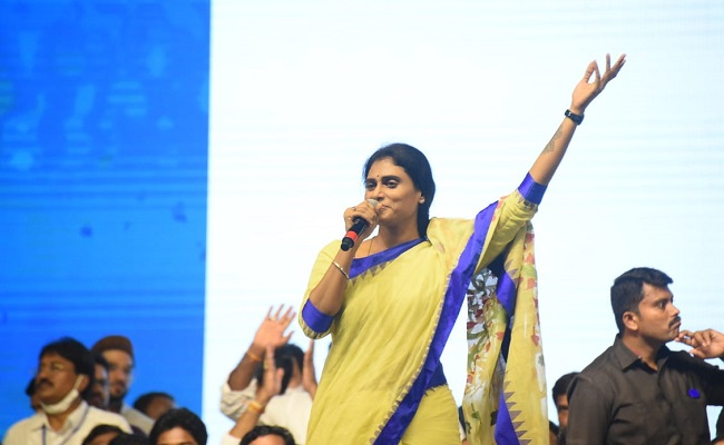 Sharmila target is to replace BJP!