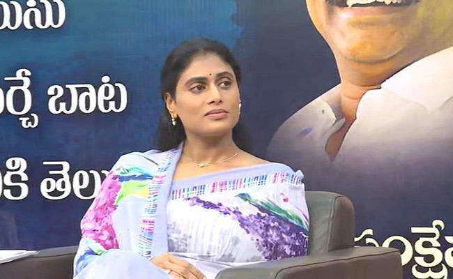 Sharmila Takes Up 'Jai Telangana' Slogan!