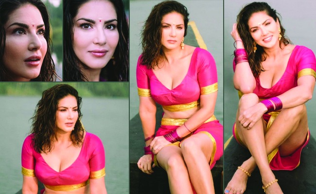 Pics: Sunny Leone sizzles in traditional Kerala outfit